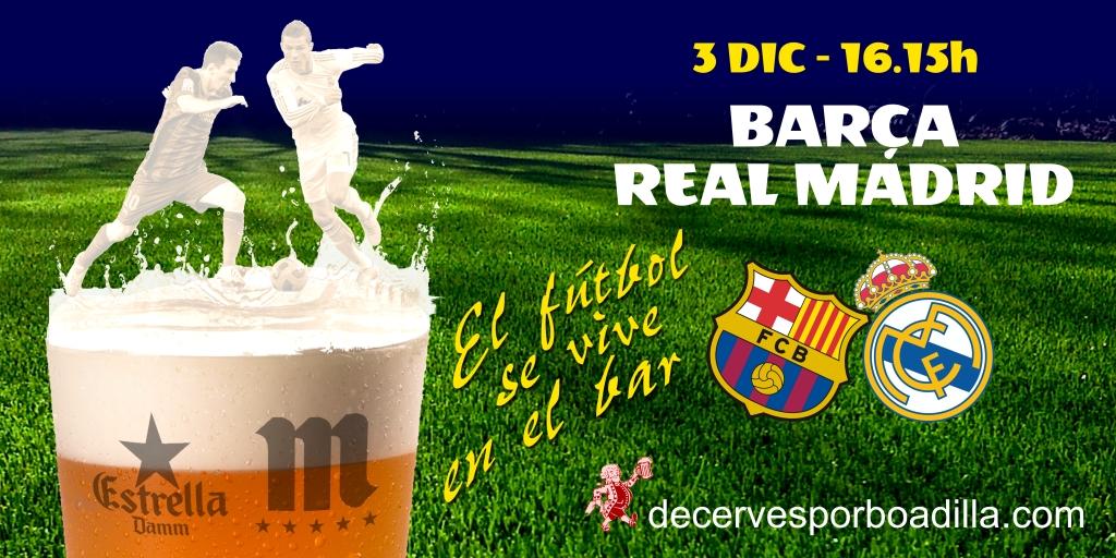 De cerves por boadilla el mejor partido para la sobremesa for A que hora juega el barcelona hoy