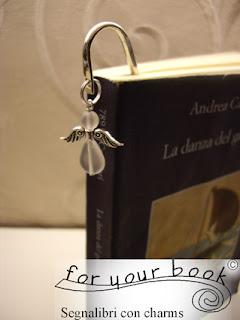 segnalibro metallo angelo regalo originale
