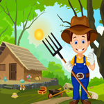 Games4King - Cute Farmer Rescue Escape