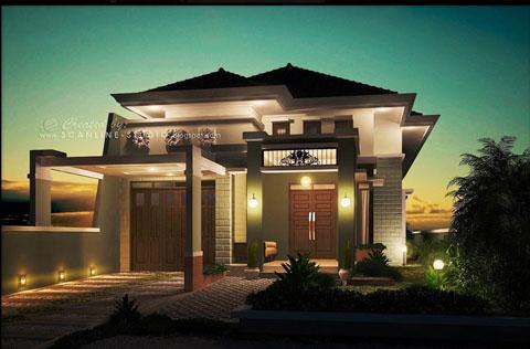 Desain Rumah Minimalis Gaya Bali  Bentuk Rumah Minimalis