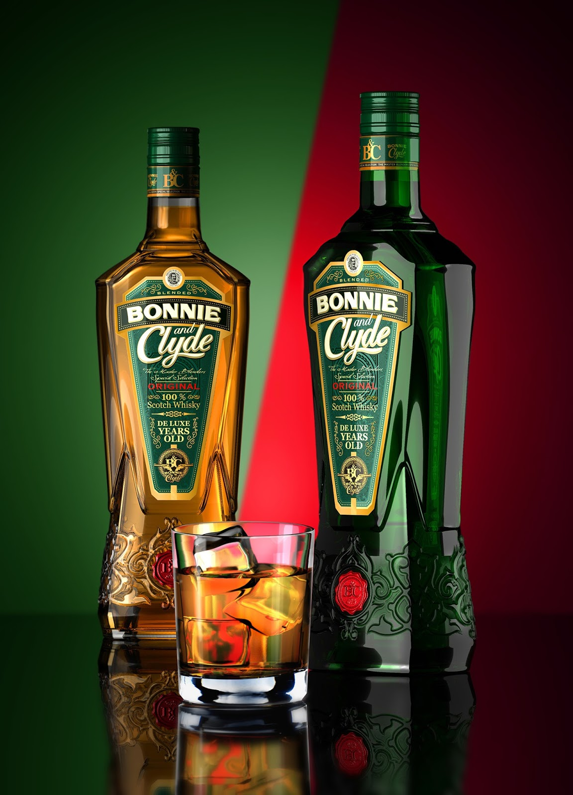 bonnie and clyde scotch whisky on packaging of the world