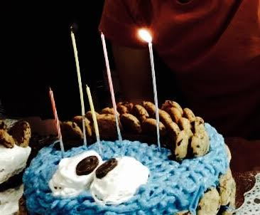 Cookie Monster Cake And Korean Birthday Candles Behgopa