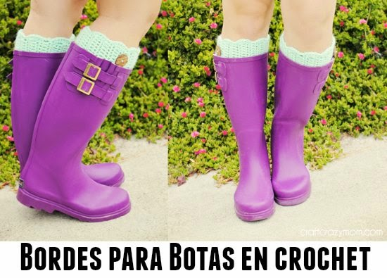 Bordes para Botas crochet Tutorial