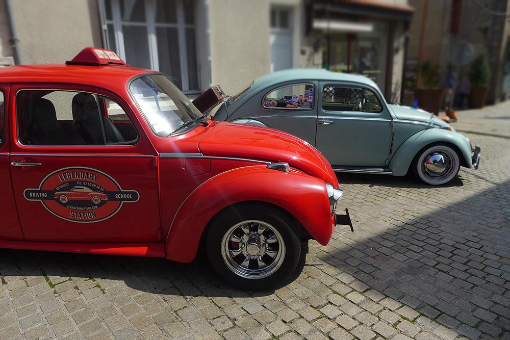 rassemblement voitures vintages Coccinelle volkswagen auto-école à Clisson