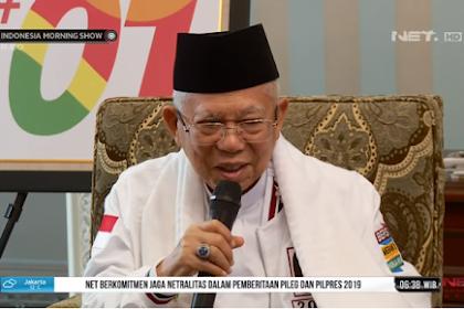 Ma'ruf Amin Pelit Jawaban dan Senyum, Cuma Siap Terima Muntahan Jokowi