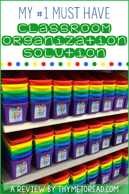 Classroom organization must-haves for back to school! Book boxes for small group instruction can relieve teacher stress when planning out your classroom.
