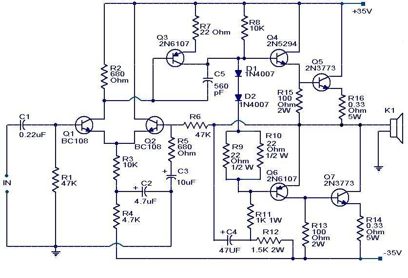 100w Subwoofer Amplifier Circuit