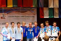 Keskel  Eesti meeskond koosseisus: Andres Talver, Kalle Kuusik ja Andres Viira. Foto: Tarmo Gede