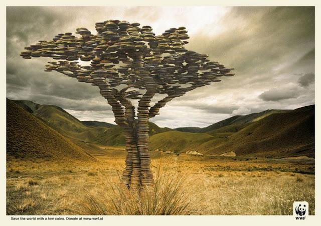 衝撃的でクリエイティブ、世界自然保護基金WWFの面白い広告 お金に換算