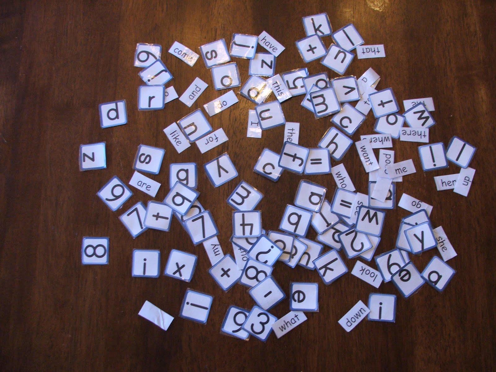 Doodlebug S Homeschool Make Your Own Letter Tiles