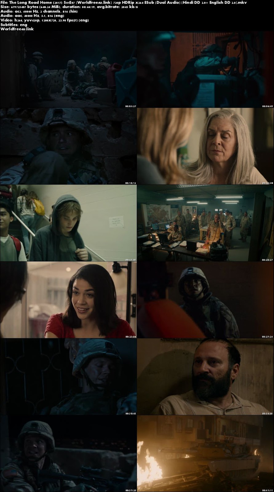 Screen Shoot of The Long Road Home 2017 S01E07 HDRip 720p Dual Audio Hindi English ESub