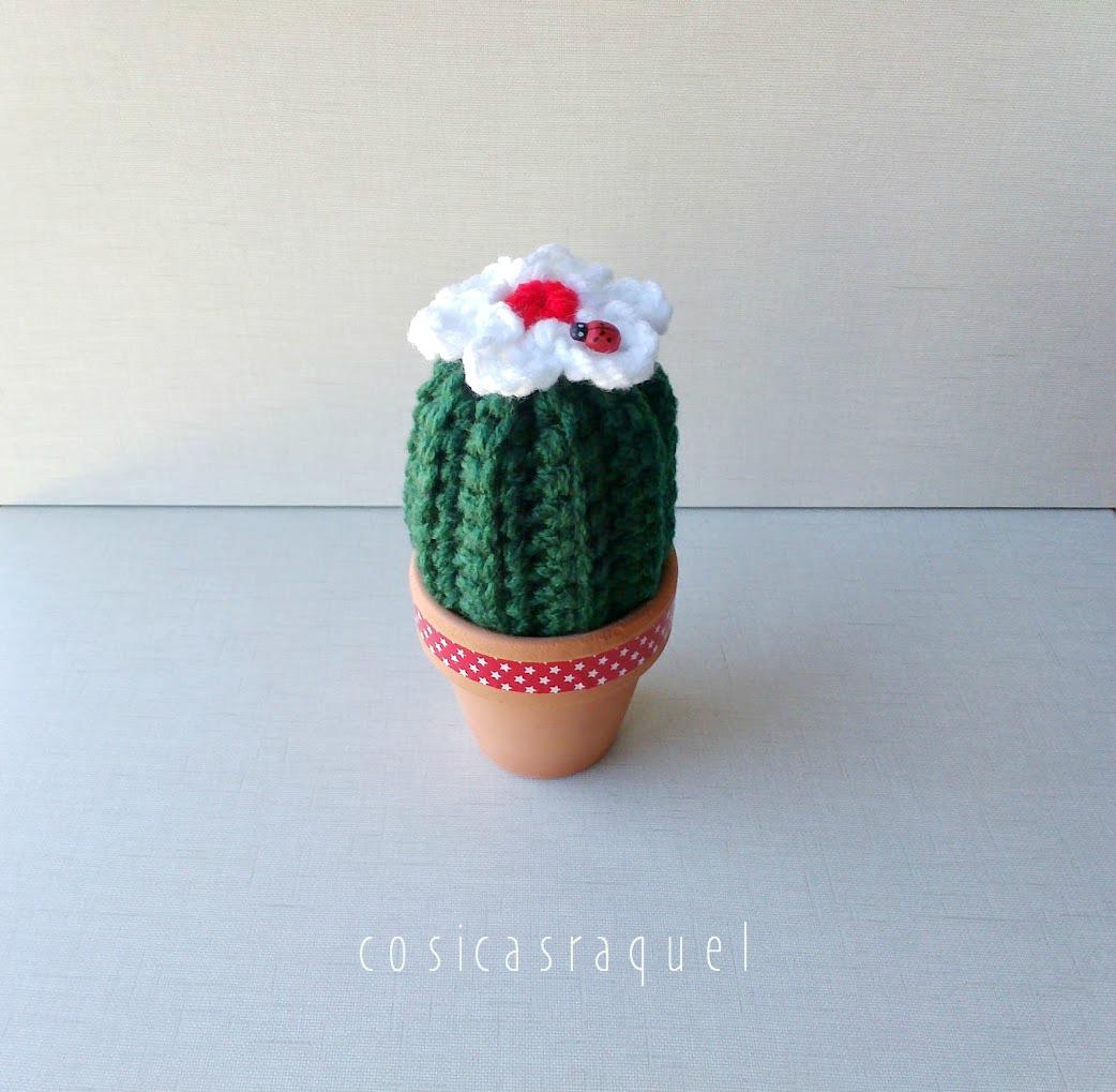 Ravelry: Cactus con flor grande, redondo con espinas amarillas y ... | 1019x1042