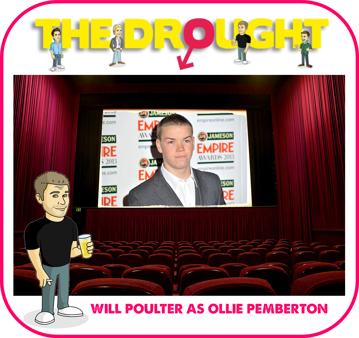 Will Poulter, actor, Ollie Pemberton, The Drought, movie, lad lit, funny book, comedy novel, funny book about relationships,