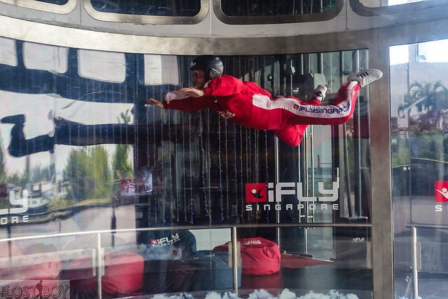 Pernahkah Anda membayangkan bagaimana rasanya terbang Pengen Tau Rasanya Terbang? ke iFly Singapore Aja