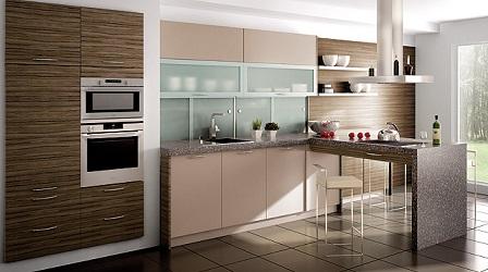 Cocinas modernas lineales colores en casa for Cocinas de casas modernas