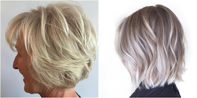 Ash Blonde Short Layered Hairstyle - Hairstyles For Gray Hair Over 60