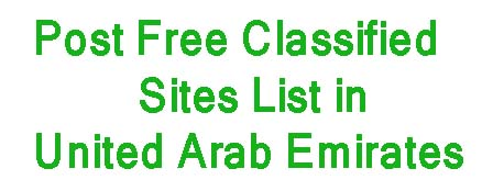 Post Free Classified Ads in United Arab Emirates