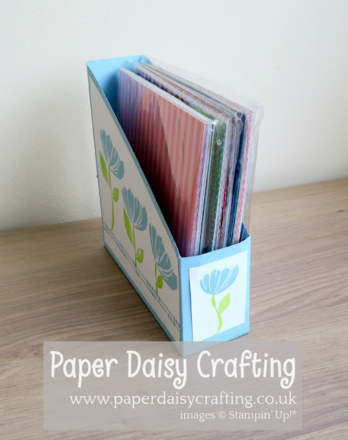 Bloom by bloom paper storage Stampin Up