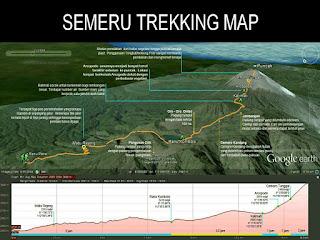 semeru trekking map