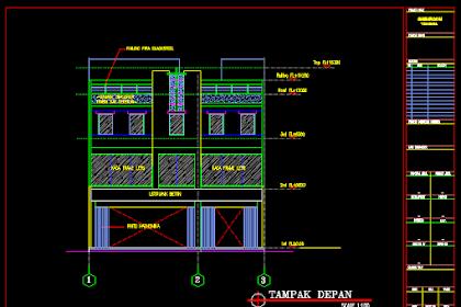 Gambar Kerja Showroom Yamaha Lengkap Dengan Detail Dwg
