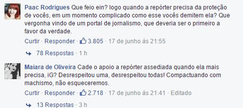 Repórter que denunciou Biel é demitida e notícia gera revolta na página do iG