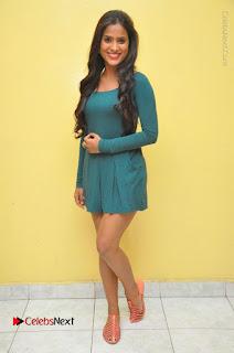 Telugu Actress Prasanthi Stills in Green Short Dress at Swachh Hyderabad Cricket Press Meet  0123.JPG