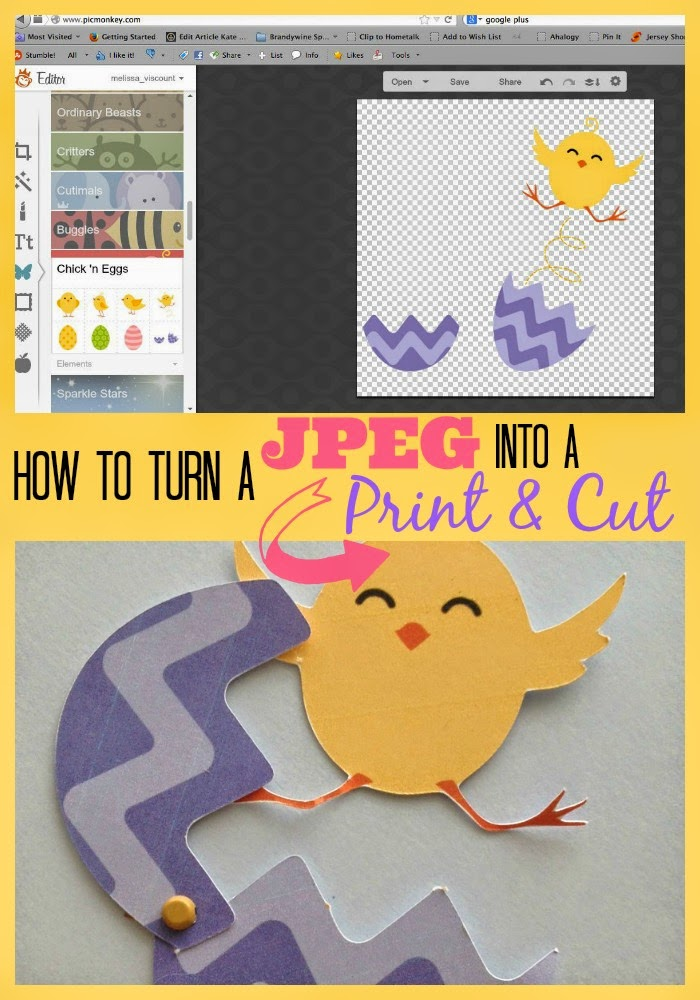 JPEG, print and cut, Silhouette, Silhouette tutorial, Silhouette Studio, PNG file