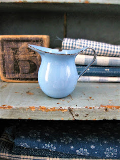 the world's tiniest enamelware pitcher
