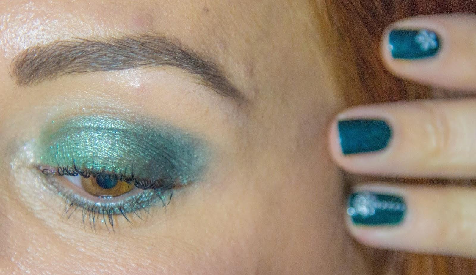 maquillage-vert-noel-urban-decay-clarins