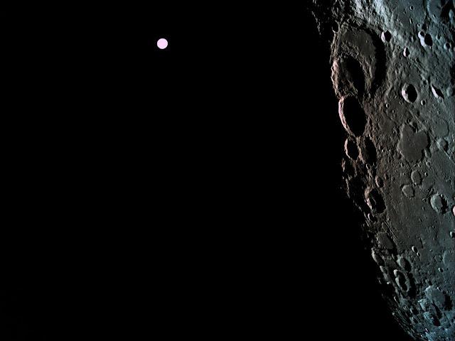 הירח וכדור הארץ ברק - חללית בראשית