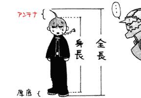 全長 身長 アンテナ 厚底 transcript from manga 鋼の錬金術師