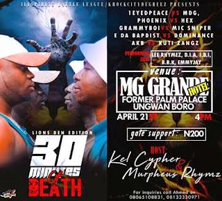 "Kaduna Braces Up for the Biggest Rap Battle in Northern Nigeria ""30Minutes Of Death Rap Battle"" Season (2)"