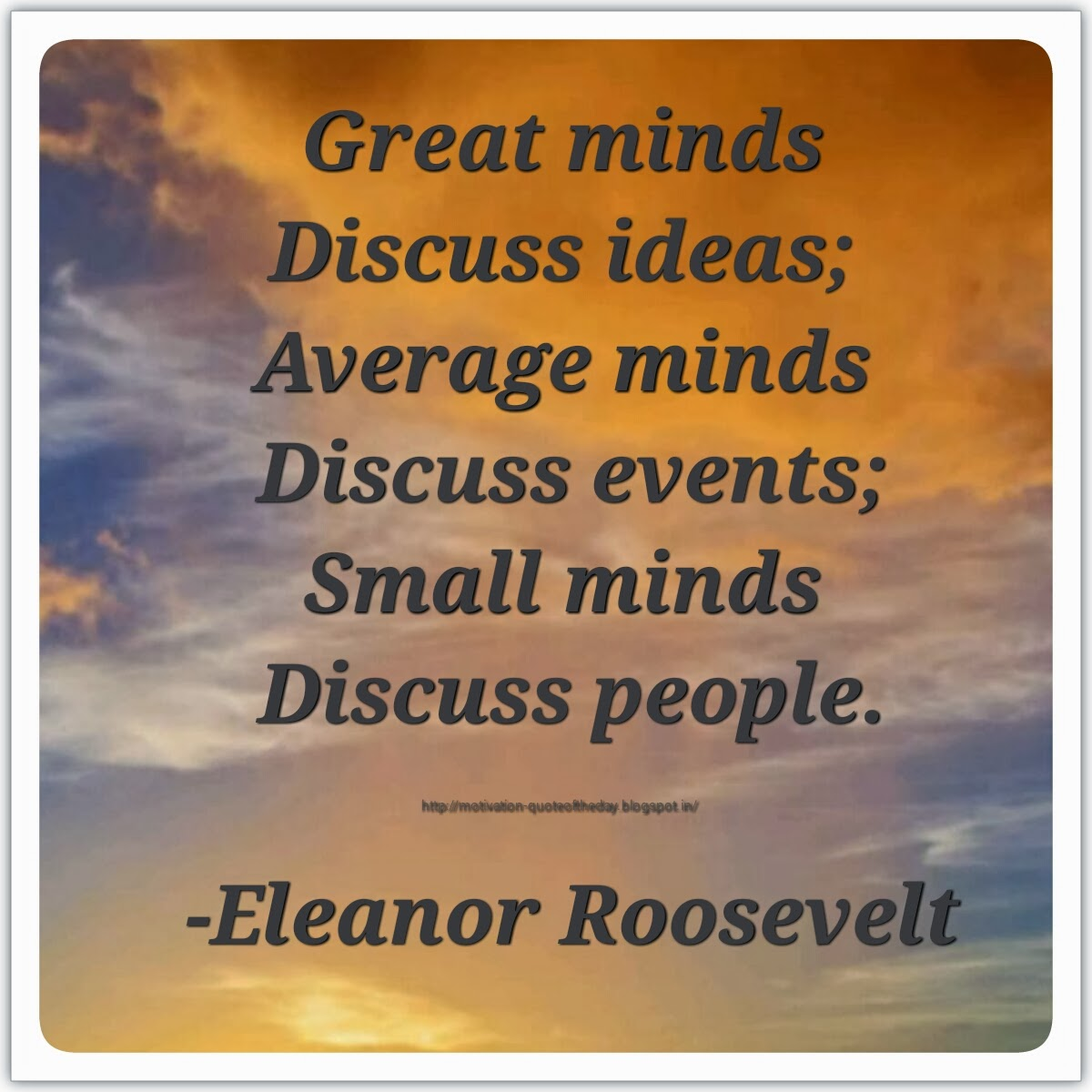 Small Minds Discuss People Quote: Motivational Quotes And Inspirational Small Stories
