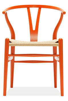 Orange Wegner Wishbone Chair