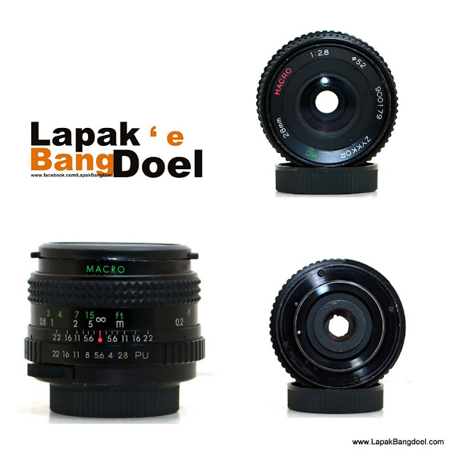 Lensa Manual Zykkor 28mm f2.8 M42