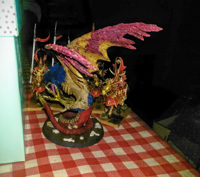 Age of Sigmar battle report between Highborn Aelfs and Beasts of Chaos.