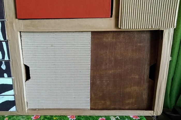 portes coulissantes en carton