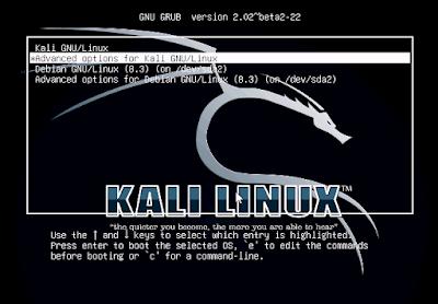 Cara mengganti Background GRUB di Kali Linux