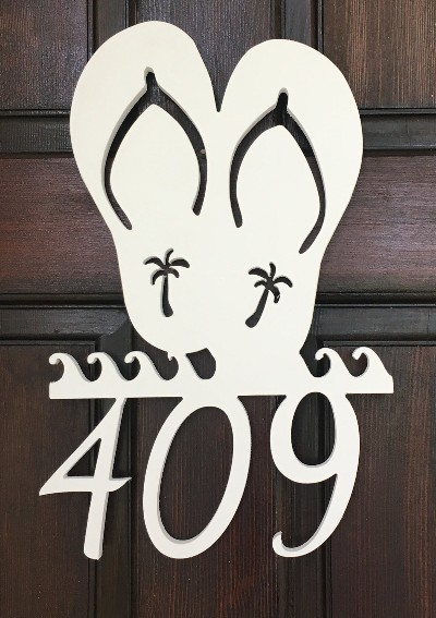 Coastal And Nautical House Number Address Wall Plaque Signs
