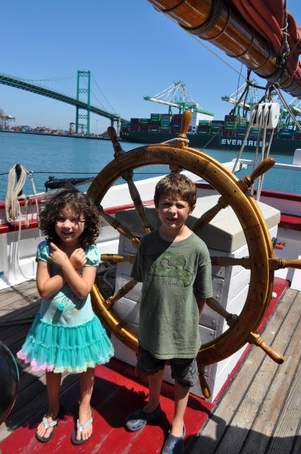 Rubber Duck, Vincent Thomas Bridge, Port of LA, Waterfront, Tall Ship Festival