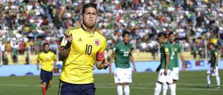 Colimbia vs Bolivia en Eliminatorias Sudamericana hacia el Mundial de Rusia 2018