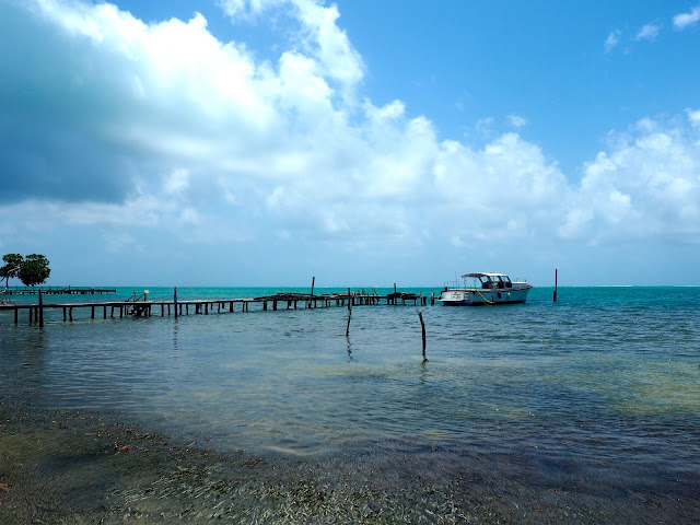 Pier in the ocean on Caye Caulker, Belize