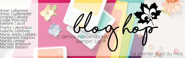 bannière blog hop des démonstratrices francophones Stampin' Up!