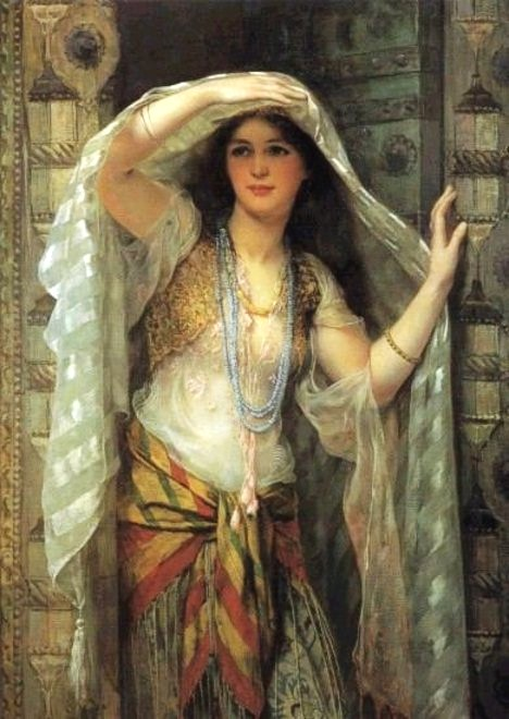 Just As The Painting At Top Of This Page Entitled An Egyptian Beauty