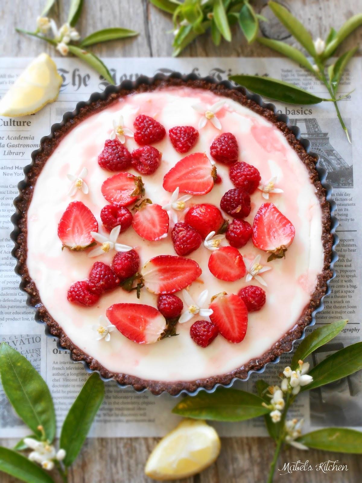 tarta-limón-frutos-rojos
