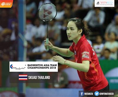 Pemain Thailand di Badminton Asia Team Championship 2018