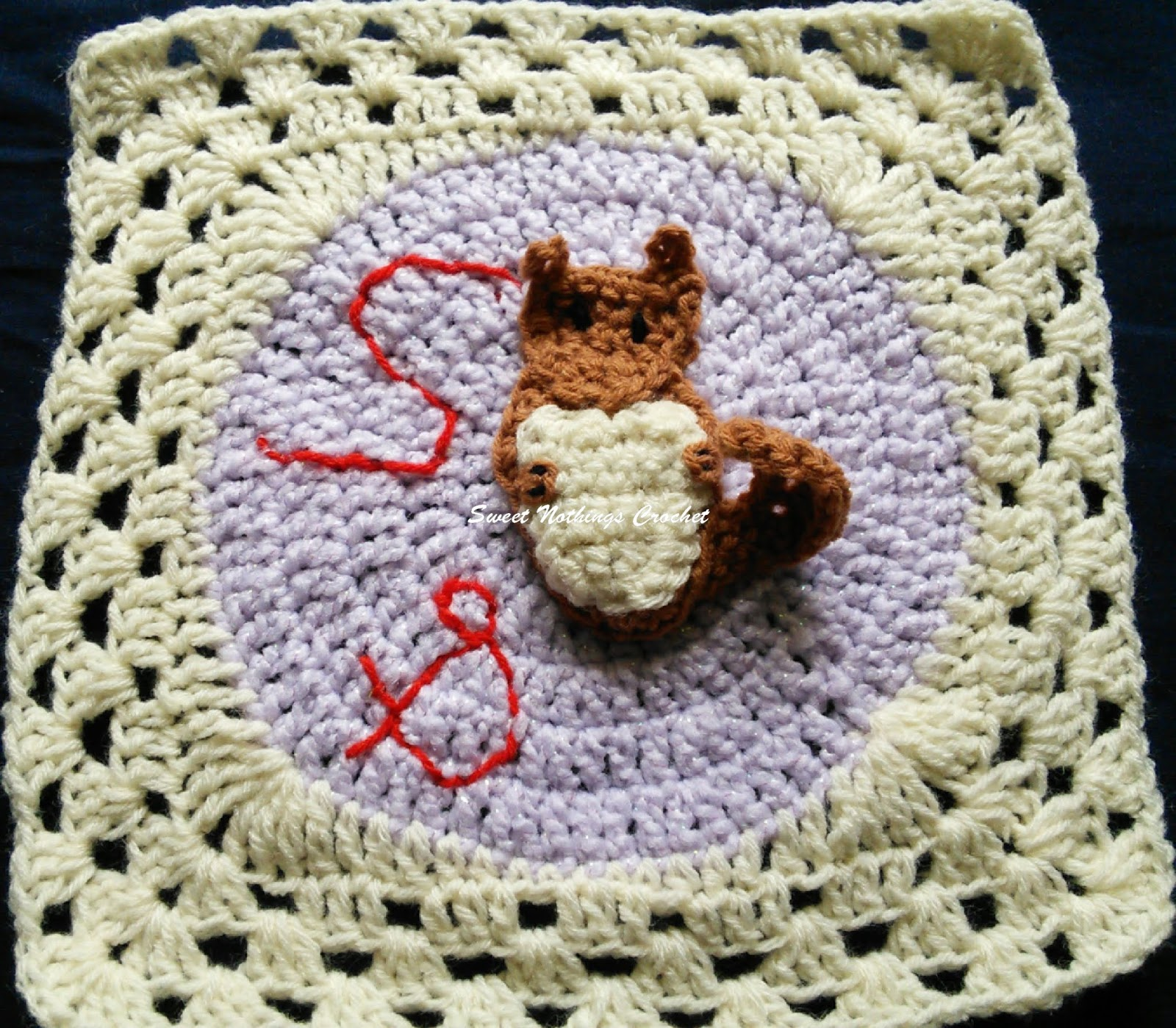 Sweet Nothings Crochet S For Squirrel Granny Square Alphabet