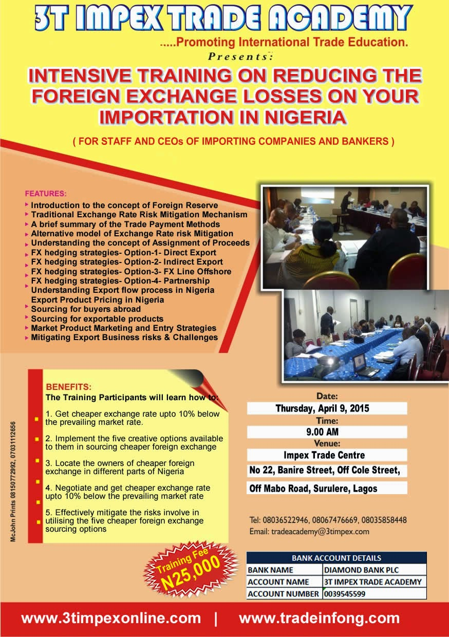Training On Reducing Foreign Exchange Losses Importation
