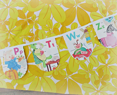 image golden book bunting alphabet abc animals zoo vintage domum vindemia
