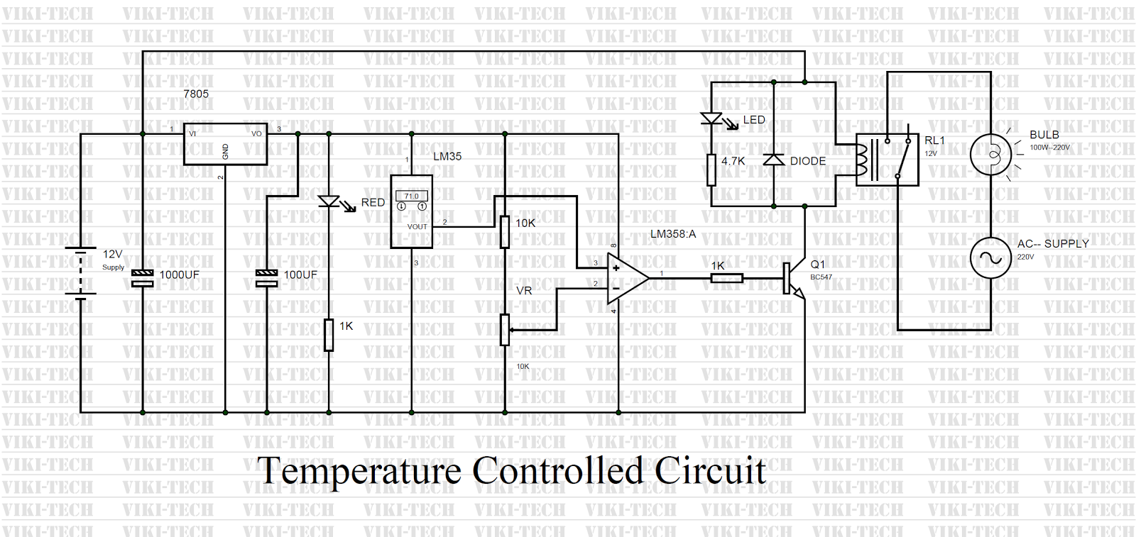 How To Make Temperature Controlled Circuit So The Leds Are Not Over Driven 555 Ic Projects And 4017ic